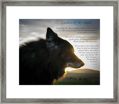 Custom Paw Print Garden Of My Heart Framed Print
