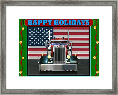 Custom Pete Happy Holidays Framed Print by Stuart Swartz
