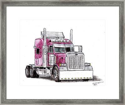 Custom Peterbilt Truck Cab Framed Print by Dan Poll