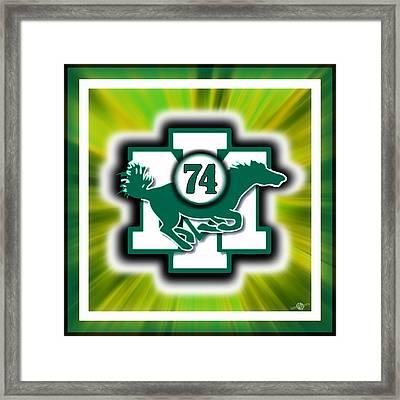 Sports Art Custom Piece Mount Ida College Player Memorial Framed Print