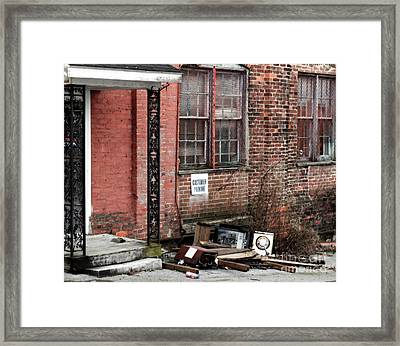 Customer Parking - Rural America  Framed Print