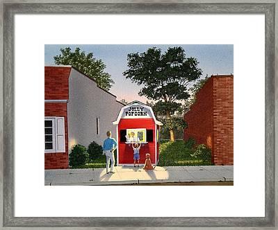 Customers' Last Stand Framed Print by C Robert Follett