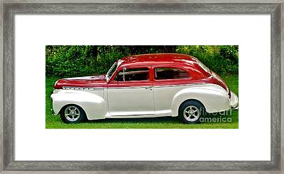 Customized Forty One Chevy Hot Rod Framed Print by Marsha Heiken