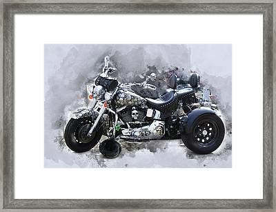 Customized Harley Davidson Framed Print by Anthony Murphy