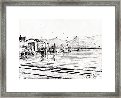 Customs Boat At Oban Framed Print by Vincent Alexander Booth