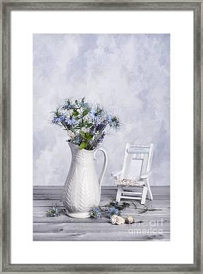 Cut Cornflowers Framed Print by Amanda Elwell