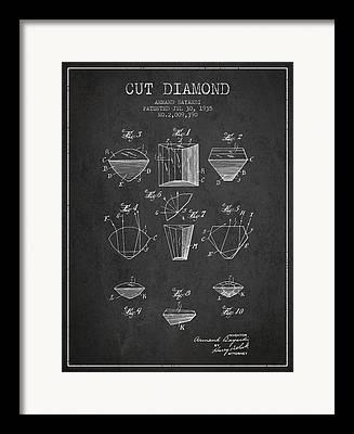 Diamond Bracelet Drawings Framed Prints