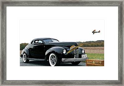 Cut Down 1940 Ford Coupe, Boeing Stearman Open Cockpit Biplane, Louis Vuitton Steamer, Vintage Hat Framed Print
