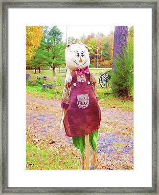 Cute And Friendly Scarecrow 6 Framed Print