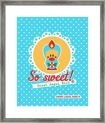 Cute Art - Sweet Angel Bird Lace Matryoshka Wall Art Print  Framed Print