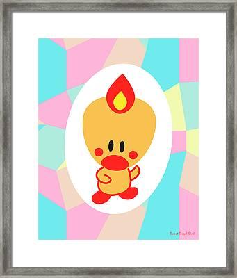 Cute Art - Sweet Angel Bird Pastel Colorblock Wall Art Print Framed Print