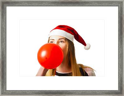 Cute Christmas Party Planner Framed Print