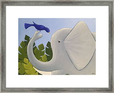 Cute Elephant Art Framed Print by Christy Beckwith
