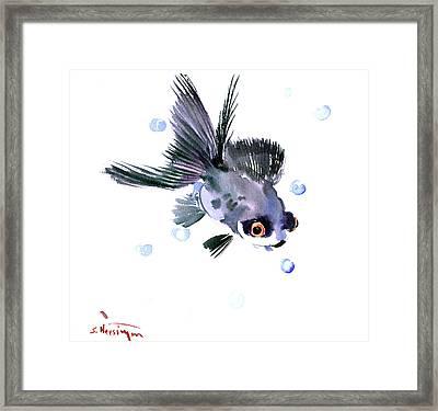 Cute Fish Framed Print