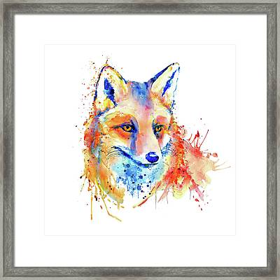 Cute Foxy Lady Framed Print by Marian Voicu