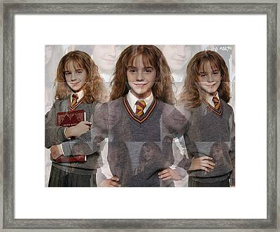 Cute Hermione Granger Framed Print by F S