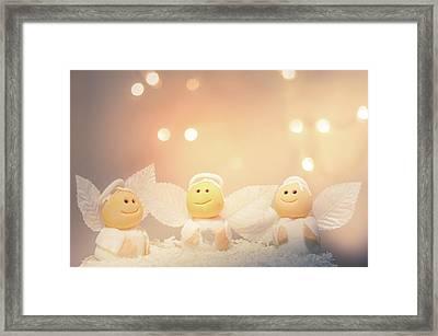 Cute Little Angels  Framed Print