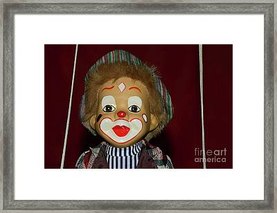 Framed Print featuring the photograph Cute Little Clown By Kaye Menner by Kaye Menner