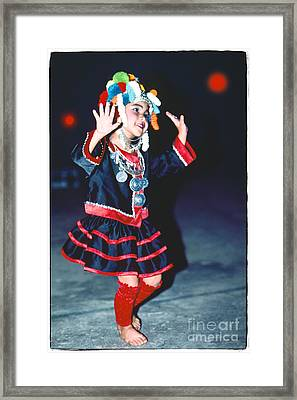 Framed Print featuring the photograph Cute Little Thai Girl Dancing by Heiko Koehrer-Wagner
