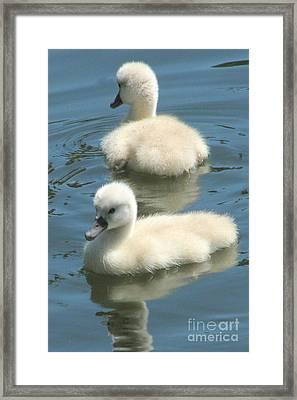 Cute Siblings Framed Print