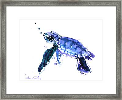 Cute Turtle Framed Print