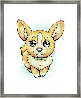 Cutie Corgi Framed Print