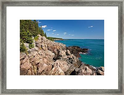 Cutler Cliffs 1 Framed Print by Susan Cole Kelly