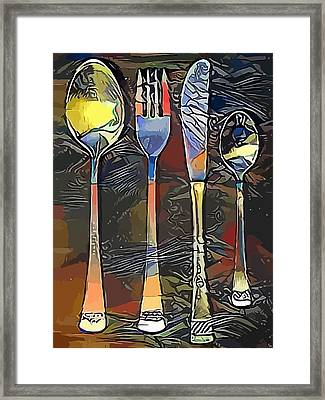 Cutlery Set Drawing Framed Print