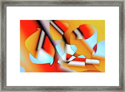 Cutouts Framed Print by Ron Bissett