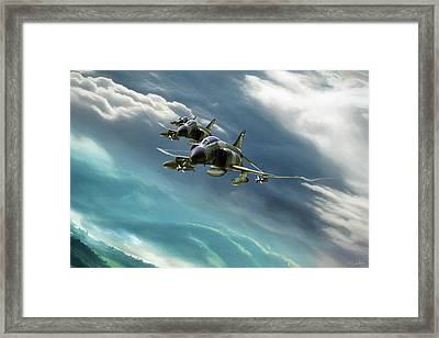 Cuts Like A Knife Framed Print by Peter Chilelli
