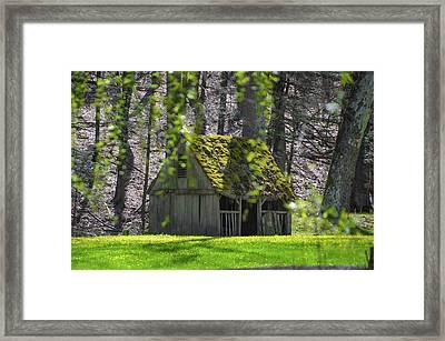 Cuttalossa Farm - Sheep Manger In Spring Framed Print by Bill Cannon