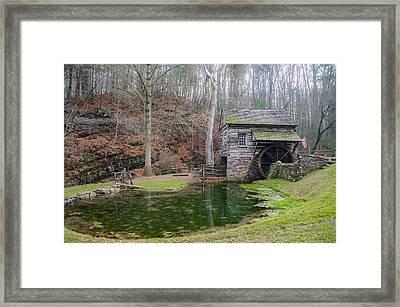 Cuttalossa Mill - Bucks County Framed Print by Bill Cannon