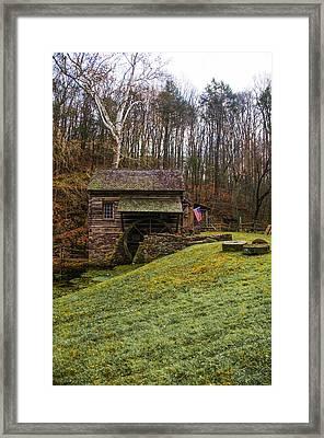 Cuttalossa Mill  - Solebury Township Bucks County Pa Framed Print by Bill Cannon