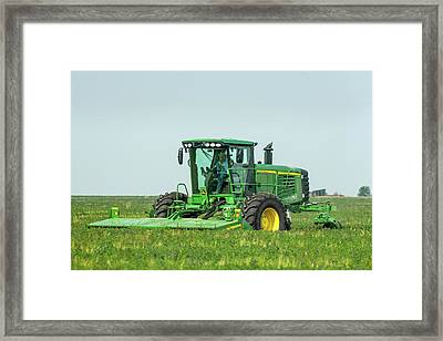 Cutting Alfalfa Framed Print by Todd Klassy