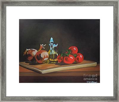 Cutting Board Framed Print by Amy Wilkinson
