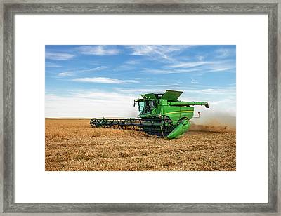 Cutting Chickpeas Framed Print by Todd Klassy