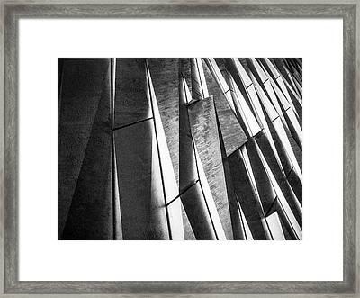 Cutting Design At Titanic Belfast Framed Print