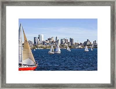Cutting In Framed Print by Tom Dowd