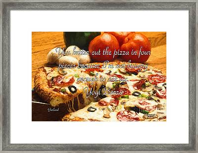 Cutting The Pizza Framed Print