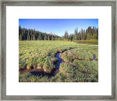 Cutting Through The Meadow Framed Print by Twenty Two North Photography