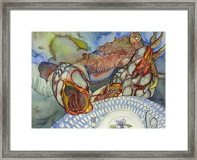 Cuttlefish Anyone  Framed Print by Liduine Bekman