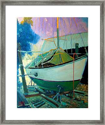 Cutts And Case Boat Yard Framed Print by Robert Lewis
