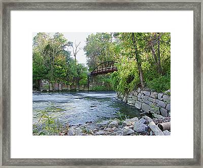 Cuyahoga River At Peninsula Framed Print