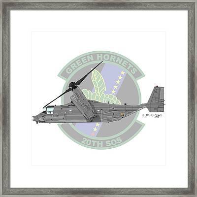 Cv-22b Osprey 20sos Framed Print