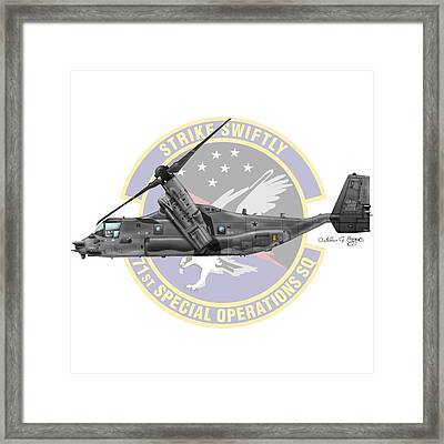 Cv-22b Osprey 71sos Framed Print