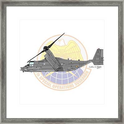 Cv-22b Osprey 7sos Framed Print