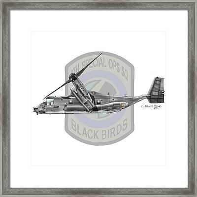 Cv-22b Osprey 8sos Framed Print