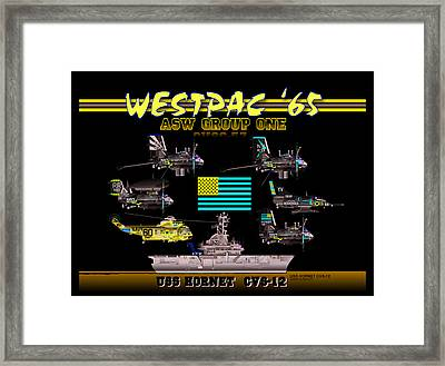 Cvsg-57 And Uss Hornet Framed Print
