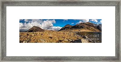 Cwm Idwal Panorama Framed Print by Adrian Evans