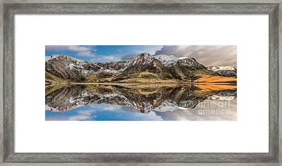 Cwm Idwal Reflections Framed Print by Adrian Evans